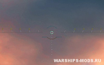 прицел tic-tac от хутореза для World of Warships