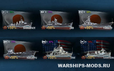wows процент побед кораблей в доках